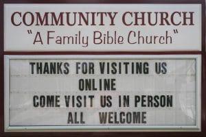 Community Church Sign - Hokah MN