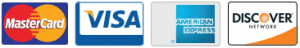 Credit Card Logos - Mastercard, Visa, American Express, Discover